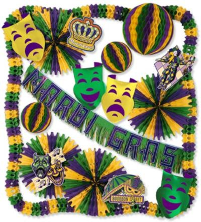 MARDI GRAS DECORATING KIT - EACH PARTY SUPPLIES