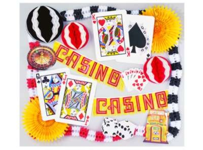 CASINO DECORATING KIT - 19 PCS PARTY SUPPLIES