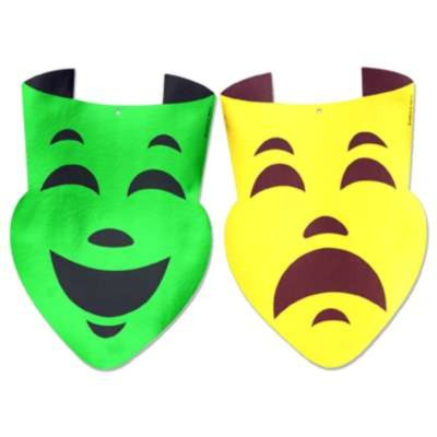 Click for larger picture of COMEDY AND TRAGEDY FACES 12IN.X 18IN. (2 PARTY SUPPLIES