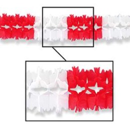 PAGEANT GARLAND RED AND WHITE (12/CASE) PARTY SUPPLIES