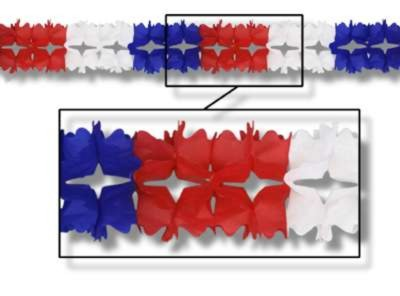 PAGEANT GARLAND RED/ WHITE/ BLUE 7IN.X14 PARTY SUPPLIES