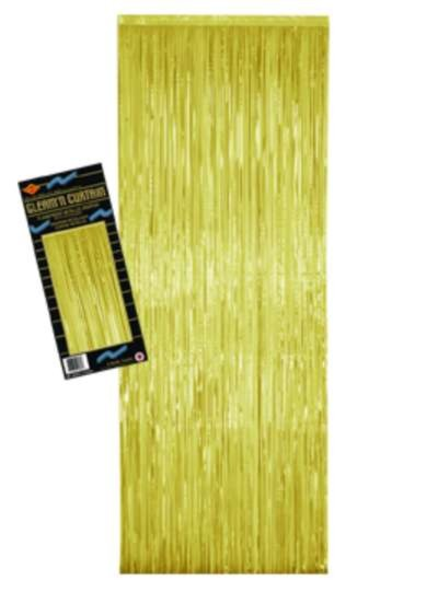 2-PLY FP GLEAM 'N CURTAIN GOLD 8'X3' PARTY SUPPLIES