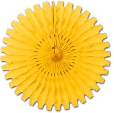 TISSUE FAN CANARY 25IN. PARTY SUPPLIES