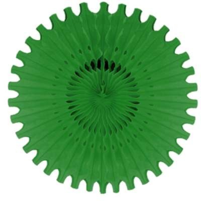 TISSUE FAN GREEN 25IN. PARTY SUPPLIES