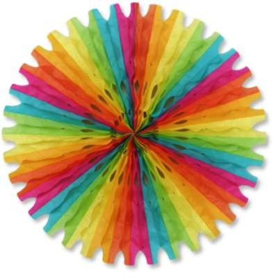 TISSUE FAN MULTI-COLOR 25IN. PARTY SUPPLIES