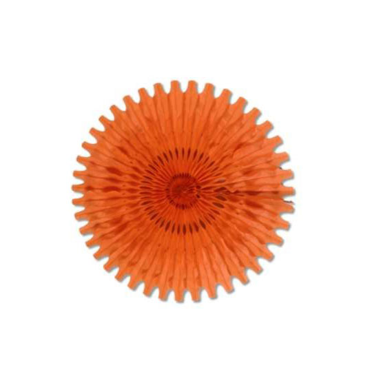 TISSUE FAN ORANGE 25IN. PARTY SUPPLIES
