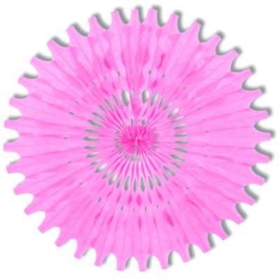 TISSUE FAN PINK 25IN. PARTY SUPPLIES