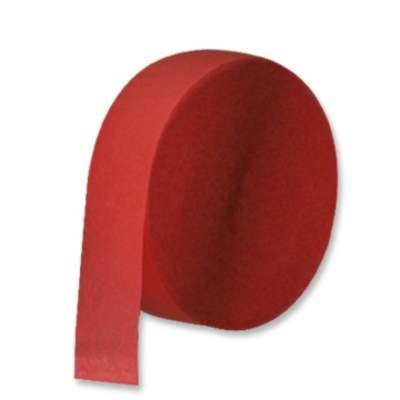 CREPE STREAMER RED 85' PARTY SUPPLIES