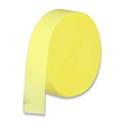 CREPE STREAMER YELLOW 85' PARTY SUPPLIES