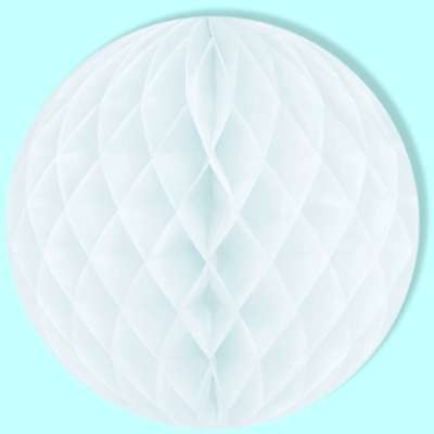 WHITE  TISSUE BALL 14INCH PARTY SUPPLIES