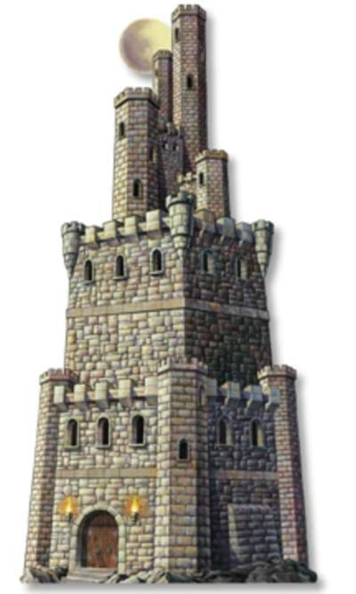 CASTLE TOWER CUTOUT PARTY SUPPLIES