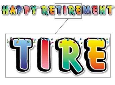 HAPPY RETIREMENT JOINTED BANNER 5FT PARTY SUPPLIES
