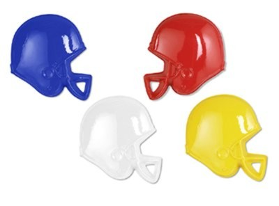 Click for larger picture of PLASTIC FOOTBALL HELMETS ASSTD COLORS / PARTY SUPPLIES
