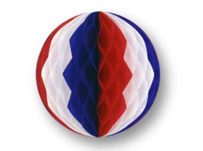 PKGD TISSUE BALL RED/ WHITE/ BLUE 12 IN. PARTY SUPPLIES