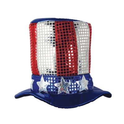Click for larger picture of GLITZ 'N GLEAM UNCLE SAM TOP HAT PARTY SUPPLIES