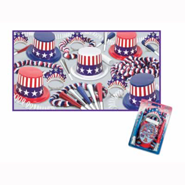 SPIRIT OF AMERICA COLLECTION FOR 10 PARTY SUPPLIES