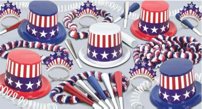 SPIRIT OF AMERICA COLLECTION FOR 50 PARTY SUPPLIES