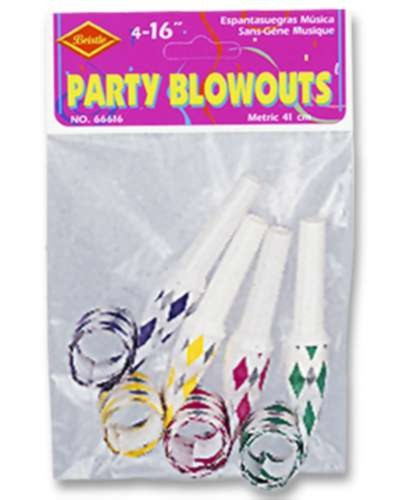 PKGD PARTY BLOWOUTS ASSTD COLORS 16IN PARTY SUPPLIES
