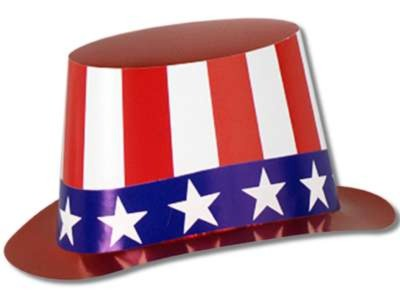 RED/ WHITE AND BLUE HI-HAT FULL HEAD SIZ PARTY SUPPLIES