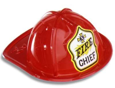 Click for larger picture of FIRE CHIEF HAT RED PLASTIC 48/CASE PARTY SUPPLIES
