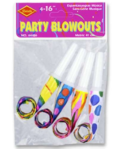 PKGD PARTY BLOWOUTS 16IN. (48/CS) PARTY SUPPLIES