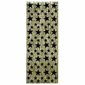 BLACK & GOLD STAR CURTAIN PARTY SUPPLIES
