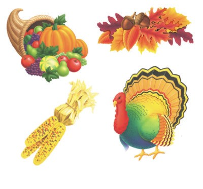 THANKSGIVING CUTOUTS PRTD 2 SIDES 14IN. PARTY SUPPLIES