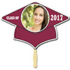 BURGUNDY GRAD CAP PHOTO PADDLE PARTY SUPPLIES