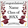 BURGUNDY MORTARBOARD GRAD DOOR BANNER PARTY SUPPLIES