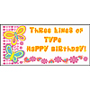 PERSONALIZED BUTTERFLY BANNER PARTY SUPPLIES