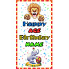 PERSONALIZED BIG TOP DOOR BANNER PARTY SUPPLIES