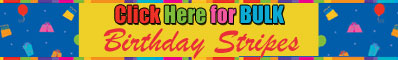 Click Here for Bulk Birthday Stripes Party Supplies