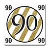 BLACK AND GOLD 90TH COASTER 12/PKG PARTY SUPPLIES