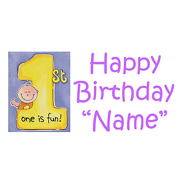 PERSONALIZED 1ST CAKES ON ME GIRL BANNER PARTY SUPPLIES
