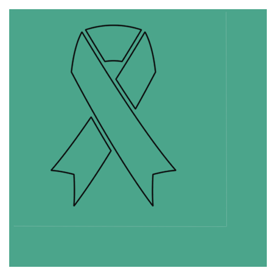 CANCER AWARE TEAL RIBBON BEVERAGE NAPKIN PARTY SUPPLIES