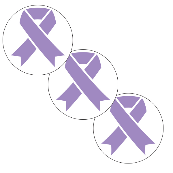 CANCER AWARE LAVENDER RIBBON DECO FETTI PARTY SUPPLIES