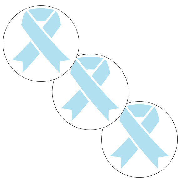 CANCER AWARE LT BLUE RIBBON DECO FETTI PARTY SUPPLIES
