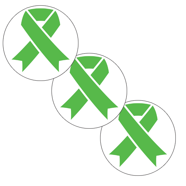 Lime Green Ribbon Party Supplies Cancer Aware Lime Green Ribbon