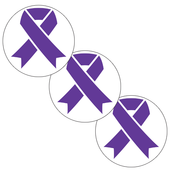 CANCER AWARE PURPLE RIBBON DECO FETTI PARTY SUPPLIES