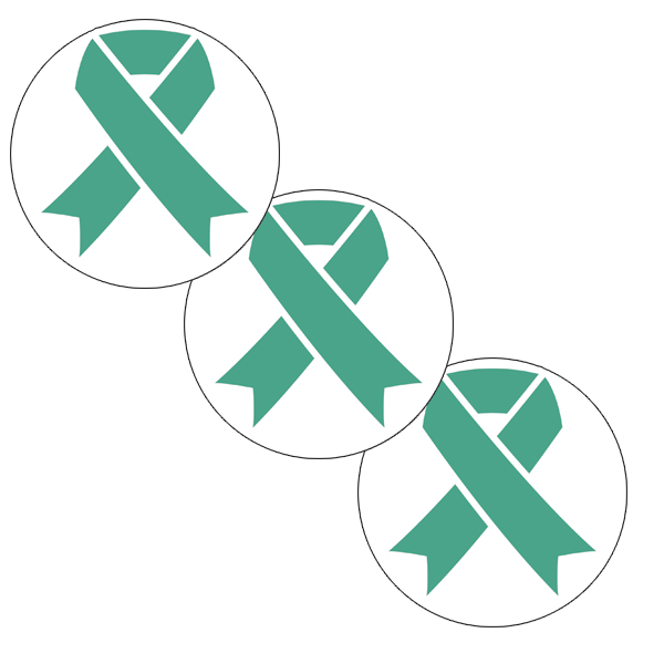 CANCER AWARE TEAL RIBBON DECO FETTI PARTY SUPPLIES
