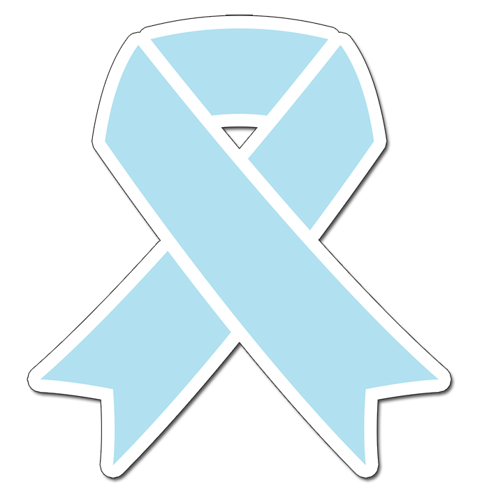 CANCER AWARE LT BLUE RIBBON 16INCH DECOR PARTY SUPPLIES