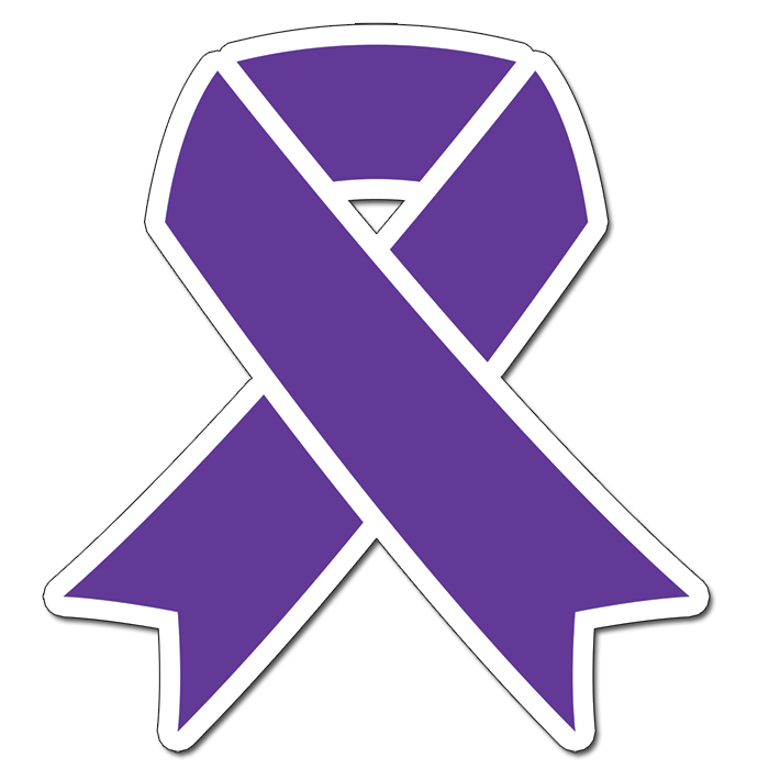CANCER AWARE PURPLE RIBBON 16INCH DECOR PARTY SUPPLIES