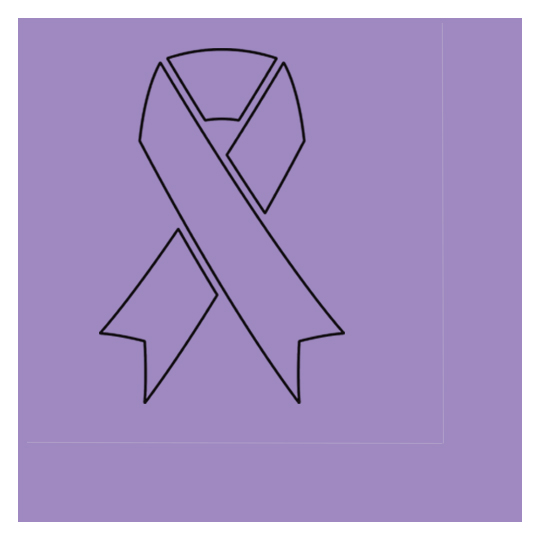 CANCER AWARE LAVENDER RIBBON LUNCHEON NA PARTY SUPPLIES