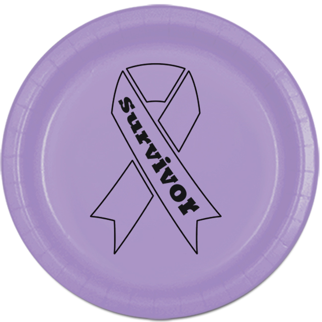 CANCER AWARE LAVENDER SURVIVOR DESSERT P PARTY SUPPLIES