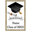 CAP AND GOWN GRAD BANNER PARTY SUPPLIES