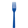 COBALT PLASTIC FORKS PARTY SUPPLIES