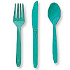 TEAL CUTLERY COMBO PACK (24CT) PARTY SUPPLIES