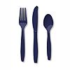 NAVY CUTLERY COMBO PACK (24CT) PARTY SUPPLIES