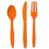 ORANGE CUTLERY COMBO PACK (24CT) PARTY SUPPLIES