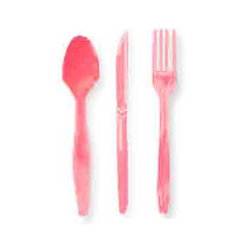 CANDY PINK CUTLERY COMBO PACK (24CT) PARTY SUPPLIES